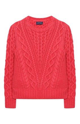 Детский хлопковый пуловер POLO RALPH LAUREN красного цвета, арт. 313787280 | Фото 1