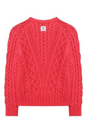 Детский хлопковый пуловер POLO RALPH LAUREN красного цвета, арт. 313787280 | Фото 2