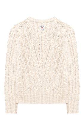 Детский хлопковый пуловер POLO RALPH LAUREN белого цвета, арт. 313787280 | Фото 2