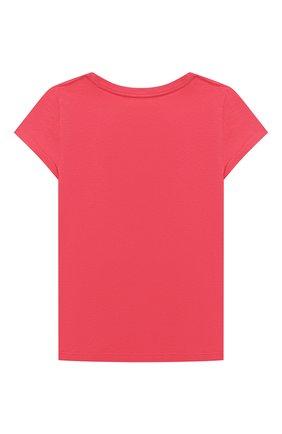 Детская хлопковая футболка POLO RALPH LAUREN красного цвета, арт. 311790444 | Фото 2