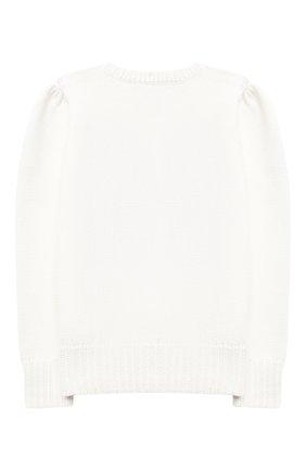 Детский хлопковый пуловер POLO RALPH LAUREN белого цвета, арт. 311787279 | Фото 2