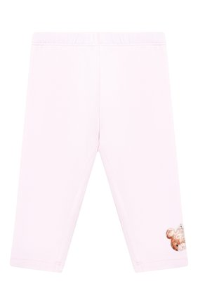 Детского хлопковые леггинсы MONNALISA розового цвета, арт. 316405A1 | Фото 1