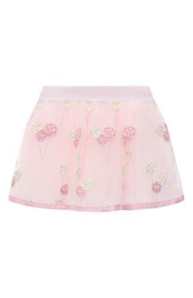Детская юбка MONNALISA розового цвета, арт. 316702 | Фото 1