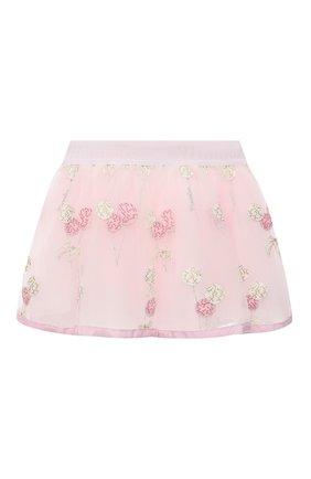 Детская юбка MONNALISA розового цвета, арт. 316702 | Фото 2