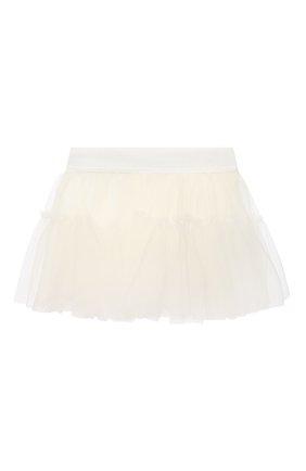 Детская юбка MONNALISA белого цвета, арт. 376GON | Фото 1