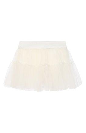 Детская юбка MONNALISA белого цвета, арт. 376GON | Фото 2