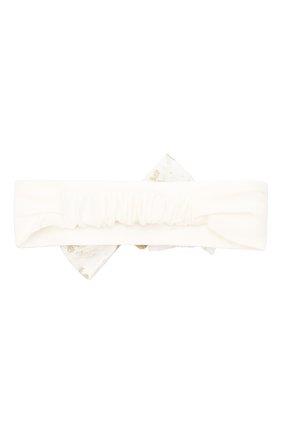 Детская повязка на голову MONNALISA белого цвета, арт. 736005 | Фото 2