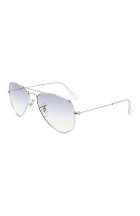 Детские солнцезащитные очки RAY-BAN голубого цвета, арт. 9506S-212/19 | Фото 1