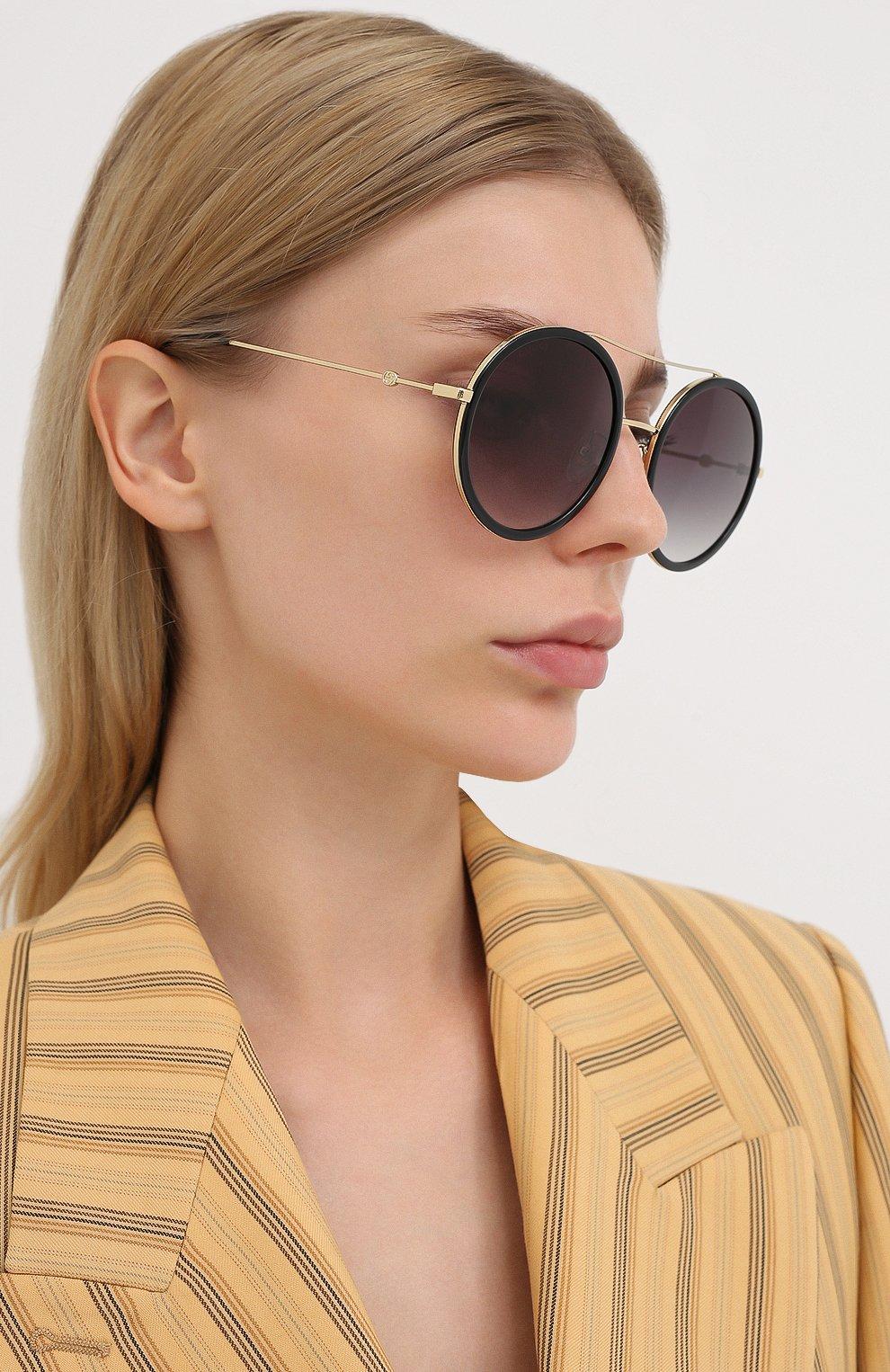 Женские солнцезащитные очки GUCCI черного цвета, арт. GG0061 001 | Фото 2