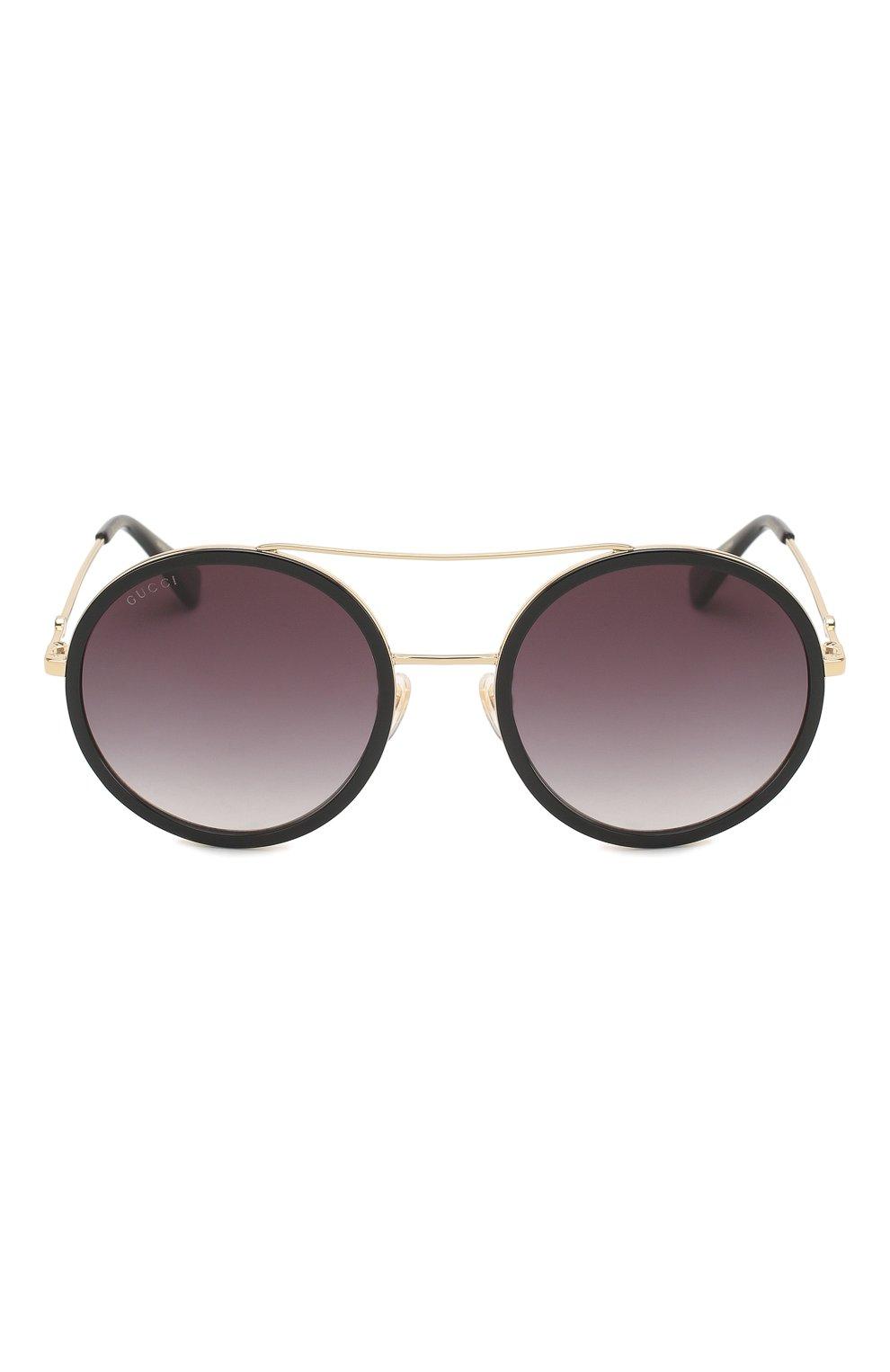 Женские солнцезащитные очки GUCCI черного цвета, арт. GG0061 001 | Фото 3