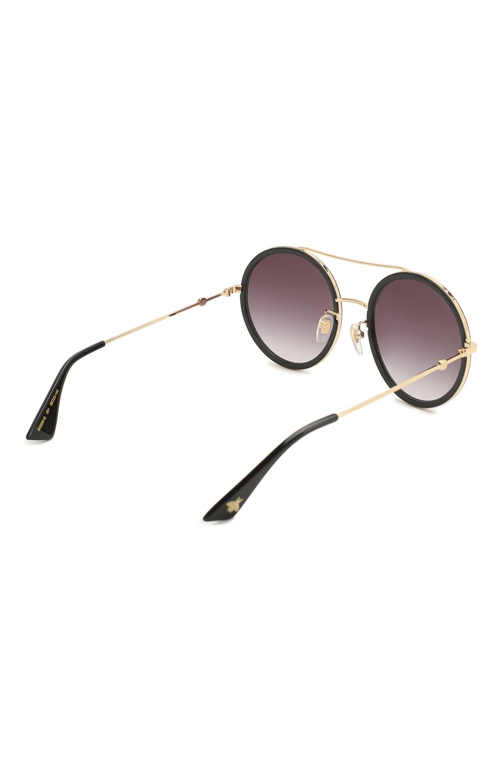 Женские солнцезащитные очки GUCCI черного цвета, арт. GG0061 001 | Фото 4