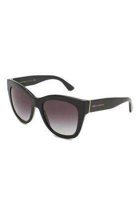 Женские солнцезащитные очки DOLCE & GABBANA черного цвета, арт. 4270-501/8G | Фото 1