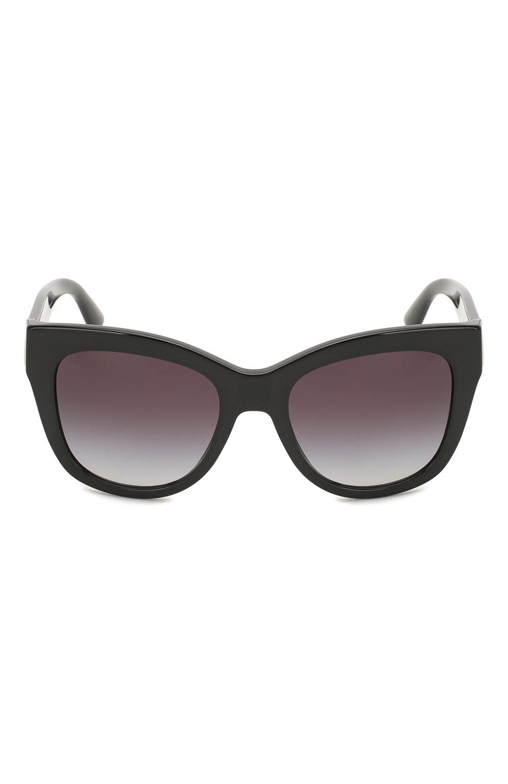 Женские солнцезащитные очки DOLCE & GABBANA черного цвета, арт. 4270-501/8G | Фото 3