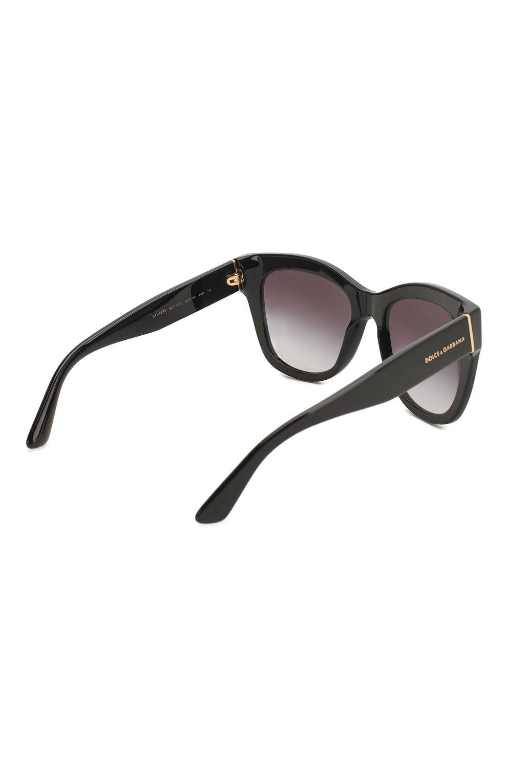 Женские солнцезащитные очки DOLCE & GABBANA черного цвета, арт. 4270-501/8G | Фото 4