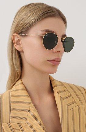 Женские солнцезащитные очки RAY-BAN темно-зеленого цвета, арт. 3447N-001 | Фото 2