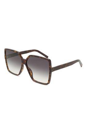 Мужские солнцезащитные очки SAINT LAURENT коричневого цвета, арт. SL 232 BETTY 003 | Фото 1