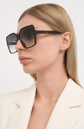 Мужские солнцезащитные очки SAINT LAURENT коричневого цвета, арт. SL 232 BETTY 003 | Фото 2