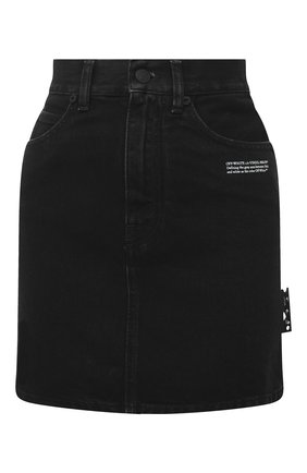 Женская джинсовая юбка OFF-WHITE черного цвета, арт. 0WYF005E20DEN0011000 | Фото 1