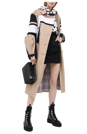 Женская джинсовая юбка OFF-WHITE черного цвета, арт. 0WYF005E20DEN0011000 | Фото 2