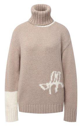Женская шерстяной свитер OFF-WHITE бежевого цвета, арт. 0WHF008E20KNI0016201 | Фото 1