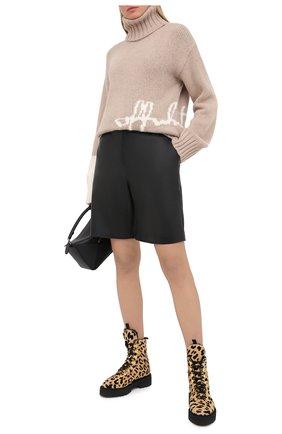 Женская шерстяной свитер OFF-WHITE бежевого цвета, арт. 0WHF008E20KNI0016201 | Фото 2