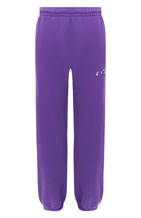 Женские хлопковые джоггеры OFF-WHITE фиолетового цвета, арт. 0WCH006E20FLE0013501 | Фото 1