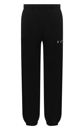 Женские хлопковые джоггеры OFF-WHITE черного цвета, арт. 0WCH006E20FLE0011001 | Фото 1