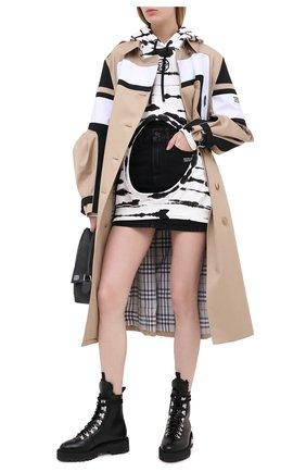 Женские кожаные ботинки OFF-WHITE черно-белого цвета, арт. 0WIA045E20LEA0011001 | Фото 2