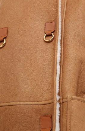 Женская дубленка LOEWE светло-коричневого цвета, арт. S359336XAT | Фото 5