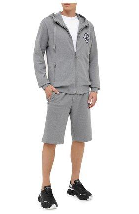 Мужские хлопковые шорты DOLCE & GABBANA серого цвета, арт. GYUTEZ/G7TWG | Фото 2