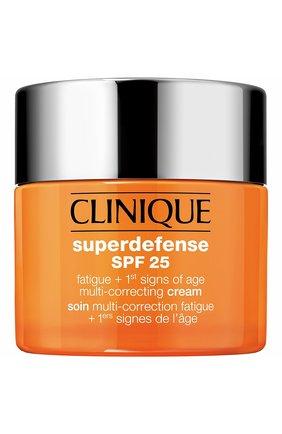 Корректирующий крем для сухой и комбинированной кожи superdefense spf 25 CLINIQUE бесцветного цвета, арт. K5G0-01 | Фото 1
