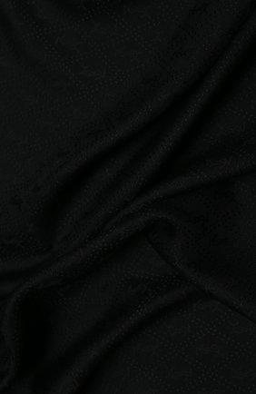Женская шаль из смеси шелка и шерсти SAINT LAURENT черного цвета, арт. 583612/3Y600 | Фото 2