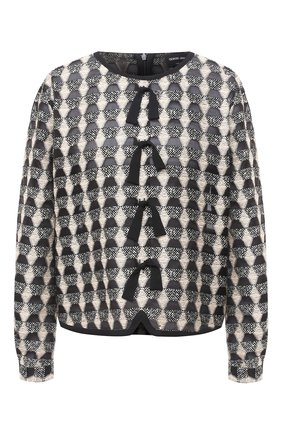 Женская блузка GIORGIO ARMANI черно-белого цвета, арт. 0WHCCZ13/TZ629 | Фото 1