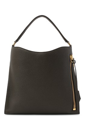 Женский сумка-тоут alix TOM FORD хаки цвета, арт. L0810T-CD6   Фото 1 (Материал: Натуральная кожа; Сумки-технические: Сумки-шопперы; Размер: medium)