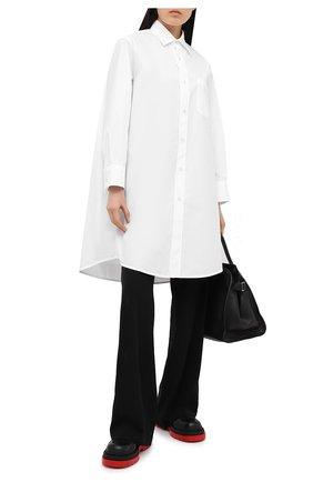 Женская хлопковая рубашка MARNI белого цвета, арт. CAMA0102A0/TCY67 | Фото 2