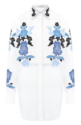 Женская шелковая рубашка VALENTINO белого цвета, арт. UB3AB1H01C8 | Фото 1