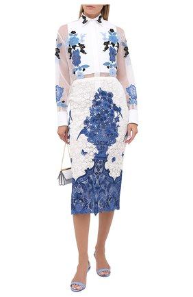 Женская шелковая рубашка VALENTINO белого цвета, арт. UB3AB1H01C8 | Фото 2