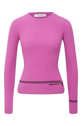 Женская пуловер из вискозы VALENTINO фуксия цвета, арт. UB3KC15V5NR   Фото 1