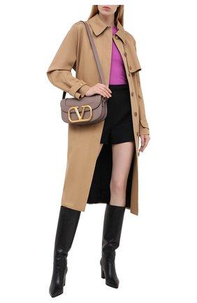 Женская пуловер из вискозы VALENTINO фуксия цвета, арт. UB3KC15V5NR   Фото 2