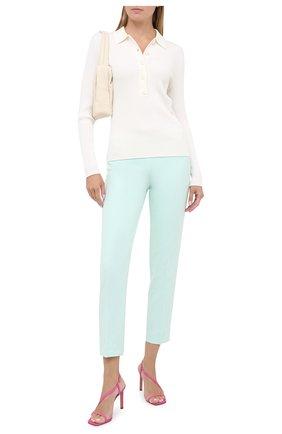 Женские брюки со стрелками BOSS зеленого цвета, арт. 50405845 | Фото 2