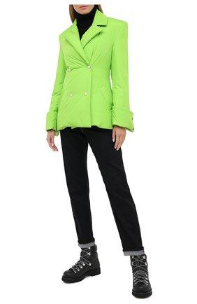 Женский пуховая куртка KHRISJOY зеленого цвета, арт. BFPW026/NY | Фото 2