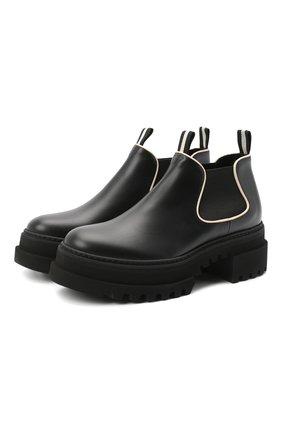 Женские кожаные ботинки giordy BALLY черного цвета, арт. GI0RDY/00 | Фото 1