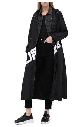 Женские кожаные кроссовки bikki BALLY черного цвета, арт. BIKKI-W/00 | Фото 2