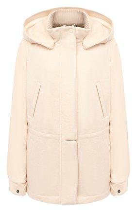 Женская кашемировая куртка LORO PIANA светло-бежевого цвета, арт. FAI7484   Фото 1