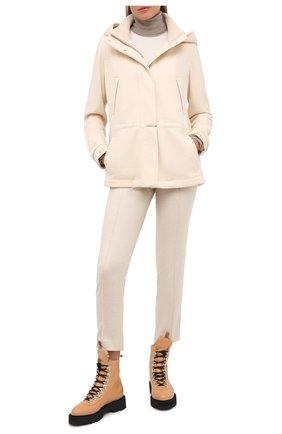 Женская кашемировая куртка LORO PIANA светло-бежевого цвета, арт. FAI7484   Фото 2