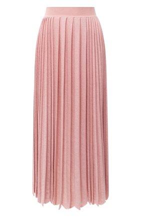 Женская юбка из кашемира и шелка LORO PIANA розового цвета, арт. FAL2186 | Фото 1