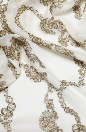 Женская шерстяная шаль ALEXANDER MCQUEEN кремвого цвета, арт. 632889/3A34Q | Фото 2