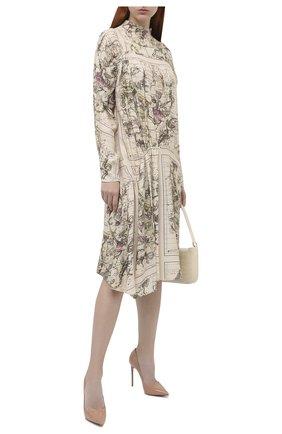 Женская кожаные туфли LE SILLA бежевого цвета, арт. 2101M100R1PPKAB | Фото 2
