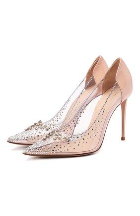 Женская комбинированные туфли LE SILLA прозрачного цвета, арт. 2117R090R1PPKAB | Фото 1