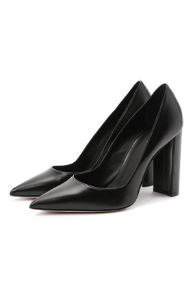 Женская кожаные туфли LE SILLA черного цвета, арт. 2905R090R3PPMIN | Фото 1